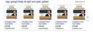 Google Alışveriş Reklamları Örneği